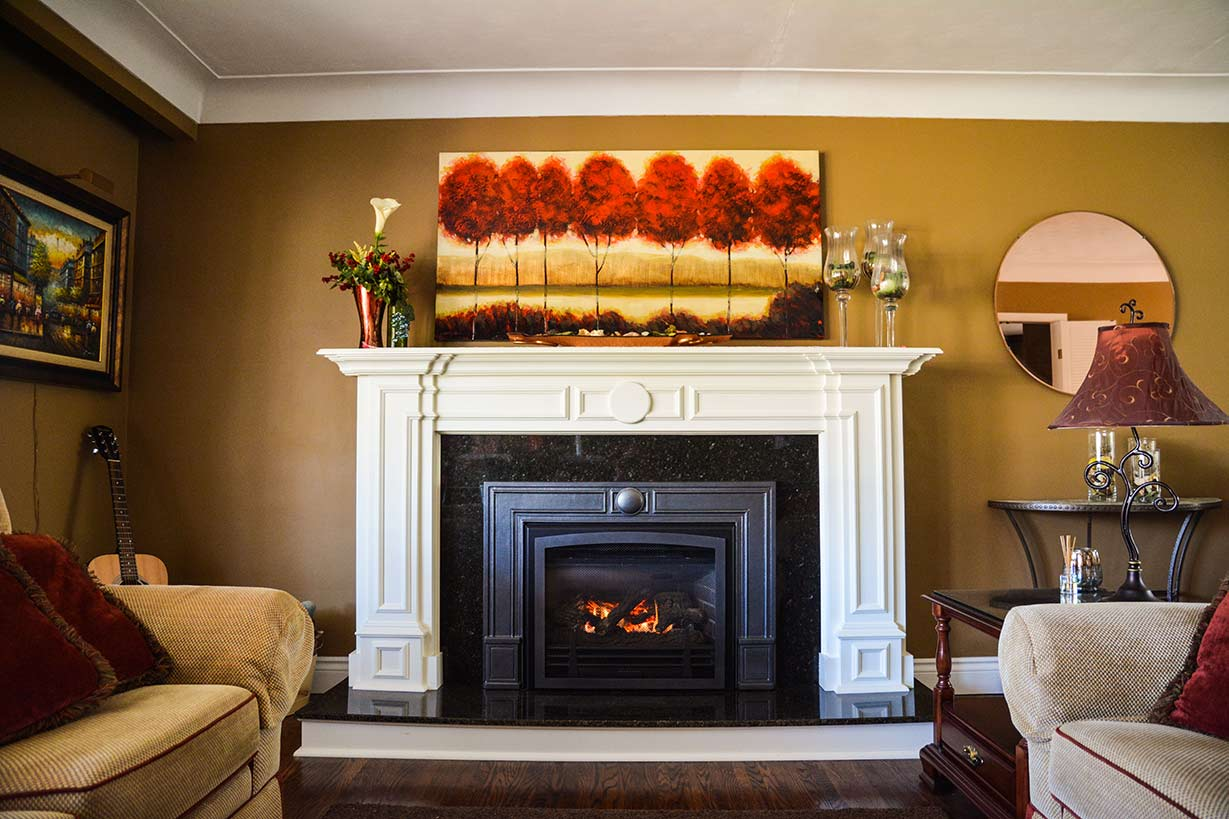 Burlington Fireplace Mantel Design - Stone -Installation - Upscale
