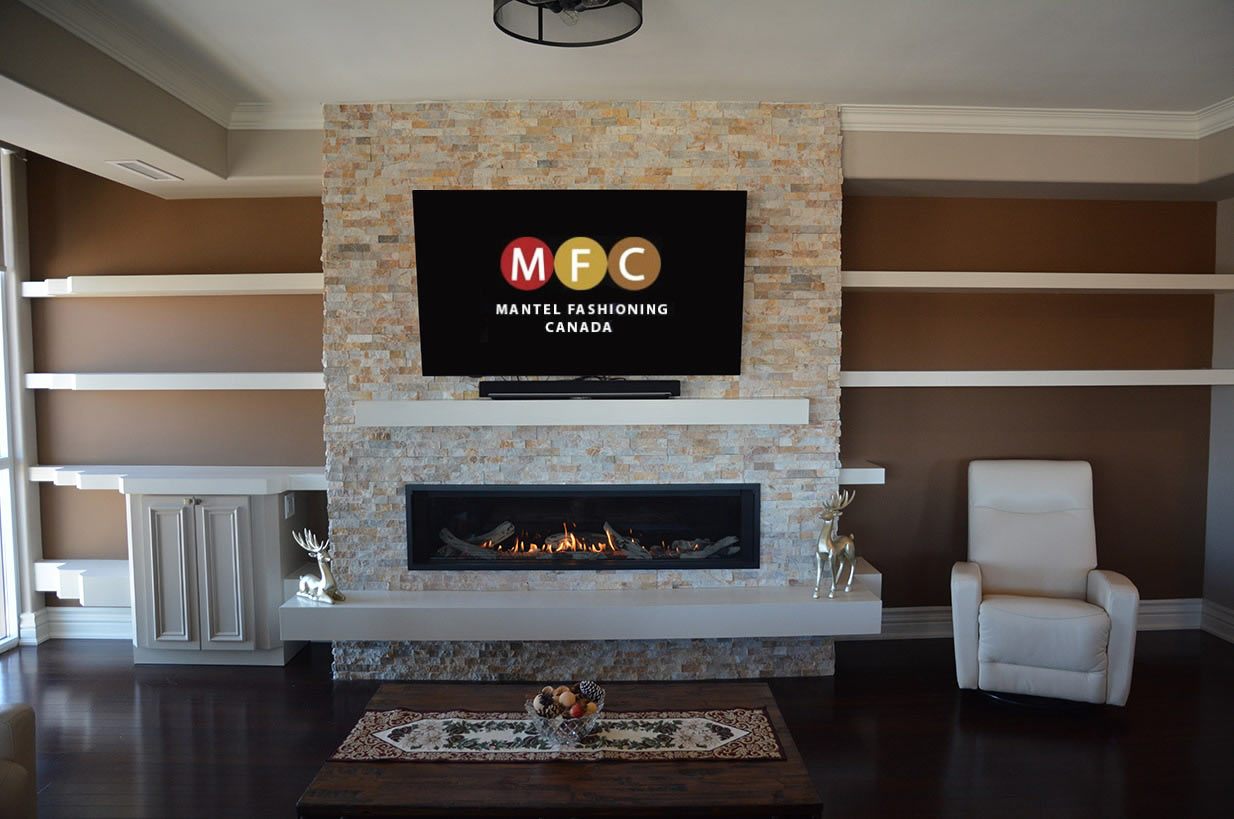 Burlington fireplace mantel installation valor in condo